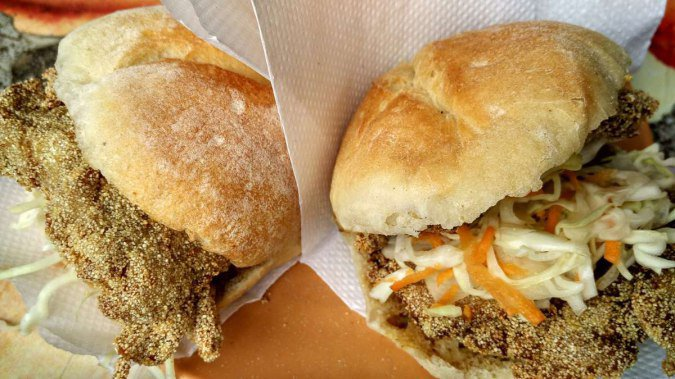Cutlet Pao at D'Silva Fast Food in Miramar